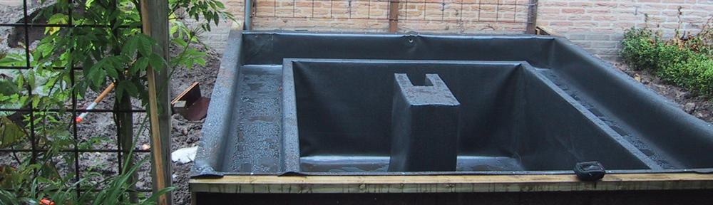 Het aanleggen van een vijver met folie. [gallery </br></br><a href=http://www.al-dak.be/?p=147><strong>Lees meer &raquo;</strong></a>